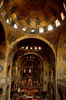 Interiors of a cathedral, St. Mark´s Cathedral, Venice, Veneto, Italy