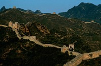 High angle view of a wall on a mountain range, Great Wall of China, China