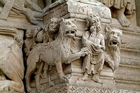 Close-up of stone carvings, Provence, France