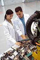 Fatronik Research Centre, San Sebastian Technological Park, Donostia, Gipuzkoa, Basque Country. Advanced industrial robotic system, final assembly of ...