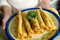 Mexican cuisine - Plate of taquitos