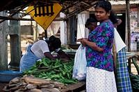 Market stall in Sri Lanka