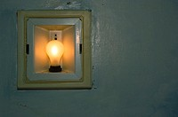 Old incandescent light fixture