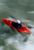 Blurred kayaker