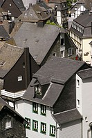 Roofs of the houses of Monschau, historic town in West Germany