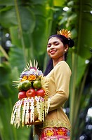 Balinese Woman carrying Fruit