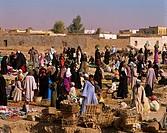 Egypt, Luxor, Market Scene