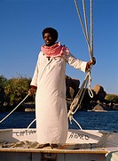 Egypt, Aswan, Nile River, Felucca, Sailor, Captain Ahmed