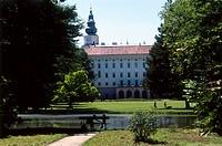 Podzamecka English Gardens and Chateau, Kromeriz, Moravia, Czech Republic