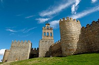 Ávila city walls. Castilla-León, Spain