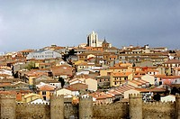 Walls and city, Ávila. Castilla-León, Spain
