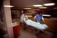 Rushing Patient Through Hospital