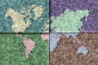 Quartered World Map
