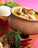 Thai Chicken Curry in a Clay Pot