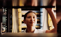 Businesswoman in Server Room