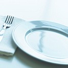Empty Plate with Napkin and Fork