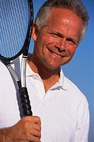 Middle-Aged Tennis Player