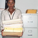 Businesswoman Carrying Workload