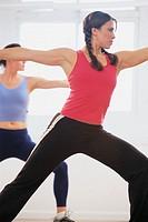 Women Doing Aerobics