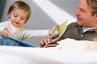 Father Reading with Toddler