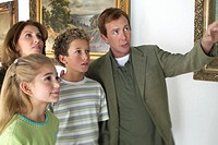 Family Looking at Art