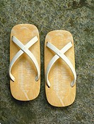 Traditional sandals (geta), Kyoto, Japan