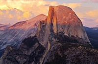 Half Dome and storm clouds from Glacier Point, Yosemite, California, USA