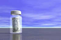 Money in Pill Bottle