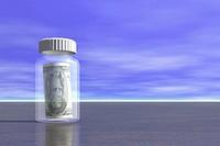 Money in Pill Bottle