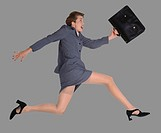 Businesswoman Leaping