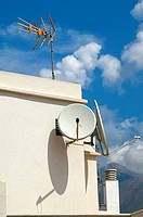 TV antenna and satellite dishes