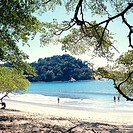Costa Rica, Parque Nacional Manuel, Antonio, Playa Espadilla Sur, swimmers  Central America, Manuel-Antonio-Nationalpark, national park, bay, beach, b...