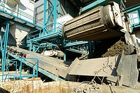 Recycling: Processing plant for separation - rubble from building sites. Switzerland