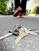 Lost keys on the street