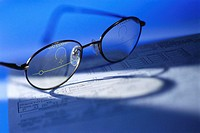 Eyeglasses with Lenses Marked for Bifocals