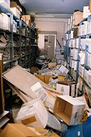 Storage Room in Disarray