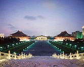 Illuminated Chiang Kai Shek Memorial and National Theater