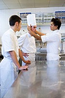 Preparations. Luis Irizar cooking school. Donostia, Gipuzkoa, Basque Country, Spain