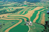 Farms and Contour Strip Farming