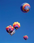 heaven, hot-air balloons, colorfully,  differently, from below  USA, New Mexico, Albuquerque, Hot air balloon Fiesta balloon festival festival, event,...