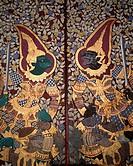 Thailand, Bangkok, wade Phra Kaeo, Gate, detail, painting, representation,  ´Garudas´ Asia, southeast Asia, wade Phra Keo, Grand Palace, palace city, ...