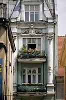 Poland, Woiwodschaft Kujawien-Pommern, Thorn, old town, residence, balconies, summer, no mr Central Europe, Torun, UNESCO-World Heritage Site, house, ...