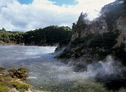 New Zealand, North island, Rotorua,  Waimangu Valley, echo craters,  New Zealand, North Iceland, sight, destination, destination, volcano landscape, W...