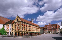 Germany, Bavaria, Memmingen, Market place, tax house, Großzunft  Allgaeu, UnterAllgaeu, buildings, constructions, architecture,  Culture, sights,