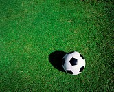Meadow, football, from above, %0A%0A%0ASerie, leather ball, ball, black-and-white, lawns, green, football lawns, sport, team sport, team game, ball sp...