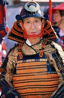 Japan, island Honshu, Tokyo, Jidai Matsuri,  Festival, man, disguise, portrait,   Asia, party, holiday, Asiate, Japanese, disguises, outfit, clothing,...