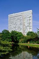 Germany, North Rhine-Westphalia,  Thyssen-Hochhaus,   City, Thyssen high-rise, Thyssenhaus, Phoenix-Rheinrohr, architecture, business building, office...