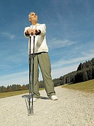 Way, senior, Nordic Walking, pause,    Series, seniors, man, 60-70 years, well Age, leisure time hobby recuperation balance fatty combustion, sport, a...