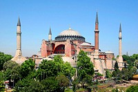 Turkey, Istanbul, Hagia Sophia, Park, summer,   Aya Sofya, mosque, ´saint wisdom´, formerly Sophienkirche, main mosque, style, Byzantine, church, Ayas...