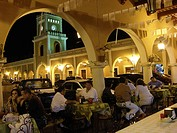 Restaurants. Portales de San Francisco. Campeche. Mexico